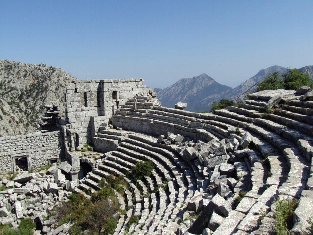 Telmessos Antik Kenti içerisinden çekilmiş görüntü